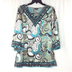 Boho Retro Blouse by Sharon Young Size 10